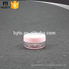 Mini petit pot transparent en plastique de 3ml / 5ml pour la crème de gel d'oeil