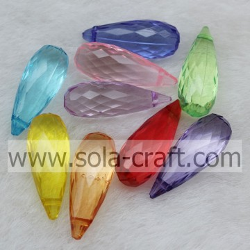 Fashion Colorful Transparent Acrylic Teardrop for Chandelier Pendant