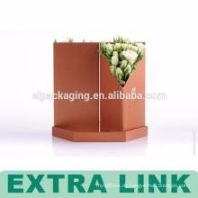 Custom bedruckte Blumenpapier Verpackung Box / Luxus runden Blumenkasten