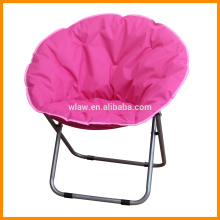 Foldable moon round camp chair