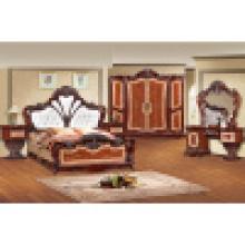 Домашняя мебель с двуспальной кроватью и шкаф и шкаф (W838)