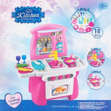 Pädagogisches Mädchen Spielzeug Küche Kochen Spiel Spielzeug Set
