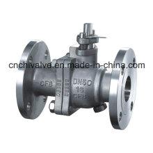 Válvula de bola de dos piezas de acero inoxidable de dos piezas
