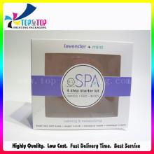 Caja de la tarjeta del cosmético de la ventana del diseño del OEM