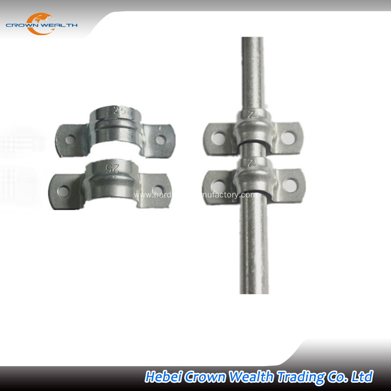 China two holes clamp saddle for steel pipe