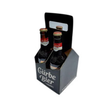 printed corrugated paper wine boxes, 4-bottle paper