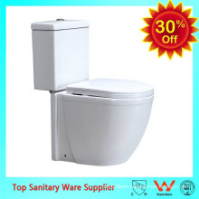 ceramic bathroom wc white color two piece toilet