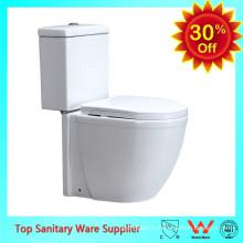 керамическая ванная комната туалет белый цвет из двух частей туалет