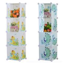 4 puertas de bricolaje armarios de almacenamiento de plástico armarios para el hogar (zh0024)