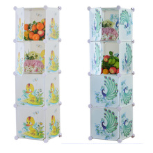4 portas DIY armários de armazenamento de plástico para casa (ZH0024)