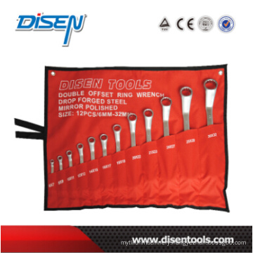 12PC (6-32) Offset Matt Finish Spanner Set
