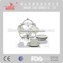 Licor de porcelana sin cerámica drinkware té café conjunto taza y platillo