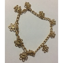 Beautiful Flower Anklet with Metal