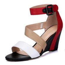 New Collection Fashion High Heels Mulheres sandálias de cunha (HS17-80)