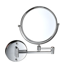 Hotel Bathroom Stainless Steel Makeup Round Wall Mirror