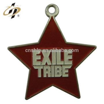 Free design sample stars zinc alloy enamel metal charm and pendant
