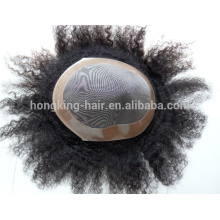 Tinte blanqueado calidad cabello humano hombres peluquín / pelo piezas