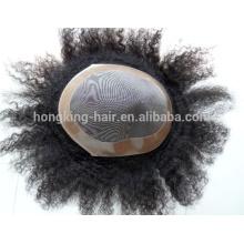 Qualité blanchi noeud hommes cheveux humains toupet / cheveux