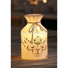 Lampe en porcelaine électrique de lumière de nuit en céramique