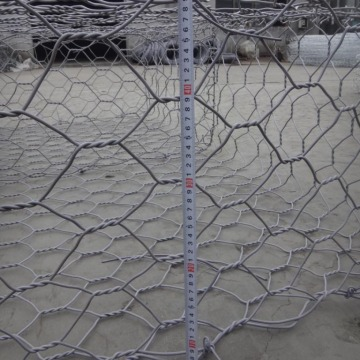 Zn-Al / Galfan atau Galvanized wire hex Gabion Baskets