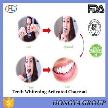 Principal proveedor de China venta privada marca de carbón activado dientes de blanqueamiento en polvo