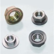Hex Flange Nut Carbon Steel Nut with Serrated for Furniture