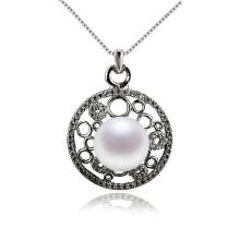 Традиционное пресноводное жемчужное ожерелье из серебра