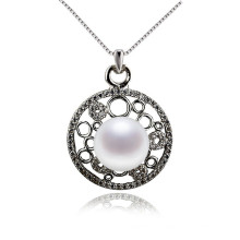 Traditional Freshwater Pearl Pendant Necklace Sterling Silver