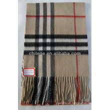cashmere checked scarf/scarves