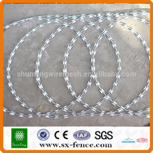 [10 years quality guarantee] Anping Factory cheap razor wire, concertina razor wire