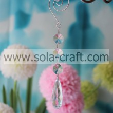 Top Sell 16CM Clear Acrylic Crystal Cut Faceted Teardrop Christmas Tree Beading Dropping Catalogs