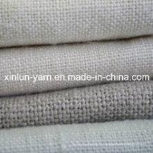 Tissu de lin de mélange solide pour le vêtement / rideau / tapisserie d'ameublement