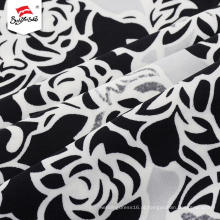 Custom Made Stretch Flower Border Imprimir vestido de tecido