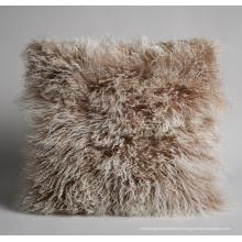 Meilleure vente de tissu en peau de mouton tibet coussin