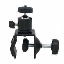 Multi-function Universal 360 Degree ball head Rotating clamp clip bracket holder fix mount for LED light/mobile phone/Cameras