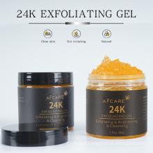 OEM Face Gel Exfoliating Gel Anti Aging 24K Gold Brightening Exfoliator Facial Peeling Gel