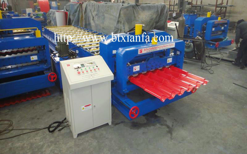 glazed tile panel roof machine