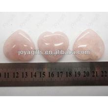 Valentinstag Geschenk Großhandel-natürliche Edelstein Herz, Rose Quartz Herz