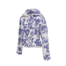 Low price womens sherpa jacket sweatsuit with high quality sweater shirt