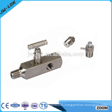 High pressure npt threaded gauge valve