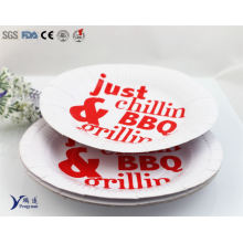 6 Inch Round Disposable Party BBQ Printed Paper Plate