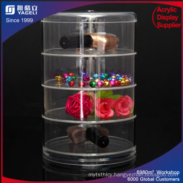 Acrylic Rotating Makeup Cosmetic Storage Tool Case Organizer