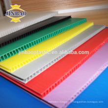 JINBAO 4x8 rouge blanc bleu creux pp boîte de carton en plastique pp coro feuille