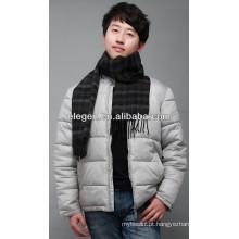 Homens de alta qualidade moda lã lisa todos os março cachecol longo / xaile