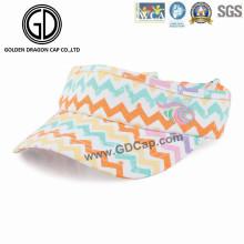 Schöne Mode Bunte Sport Golf Sonnenblende mit maßgeschneiderten Stickerei