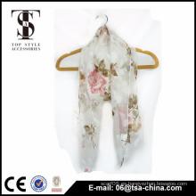 La nueva gasa del poliester de la bufanda del estilo burn-out imprime la bufanda