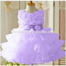 Vestido de fiesta de niña vestido occidental vestido de fiesta de rosa una pieza pcs para niñas de 2-12 años