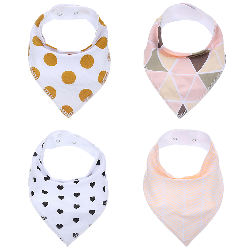 New Design Fashionable Cotton Baby Bandana Bibs Wholesale
