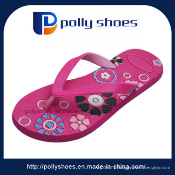 Sandales de bain de plage de Sandale de plage de confort rouge plat féminin Flip Flop