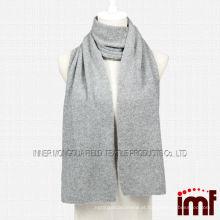 Cinza malha lenço de cashmere
